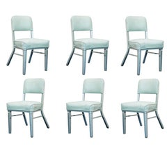 Set of Six Steelcase Industrial Tanker Chairs