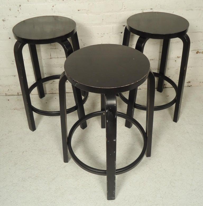 Set of Six Stools by Artek For Sale 2