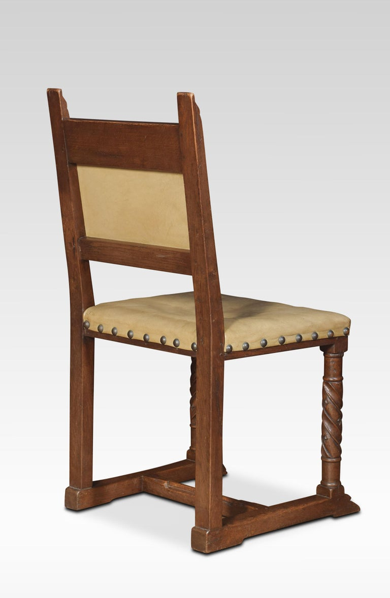 Set of Six Substantial Oak Dining Chairs For Sale 1