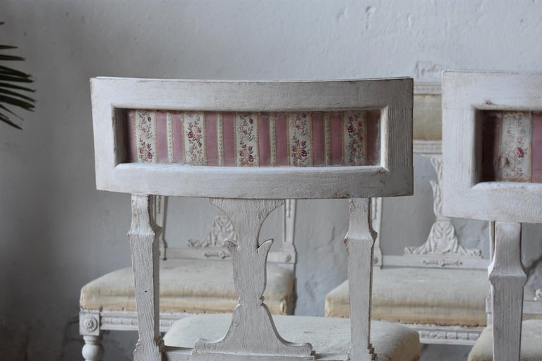 Set of Six Swedish Chairs from the Gustavian Period 19th Century For Sale 5