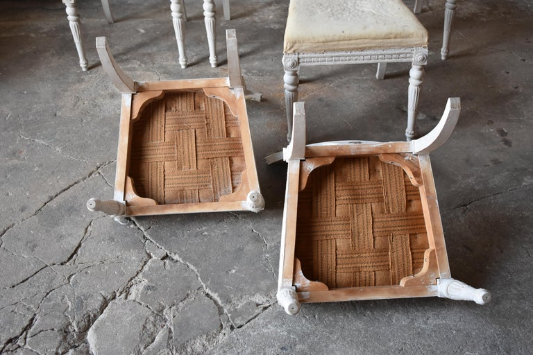 Set of Six Swedish Chairs from the Gustavian Period 19th Century For Sale 6