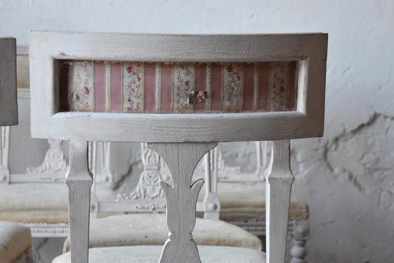 Set of Six Swedish Chairs from the Gustavian Period 19th Century For Sale 4