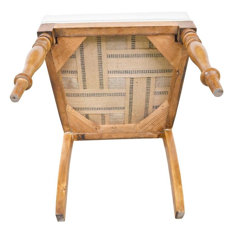 Set of Six Swedish Karl Johan Biedermeier Dining Chairs in Birch, circa 1825 For Sale 11