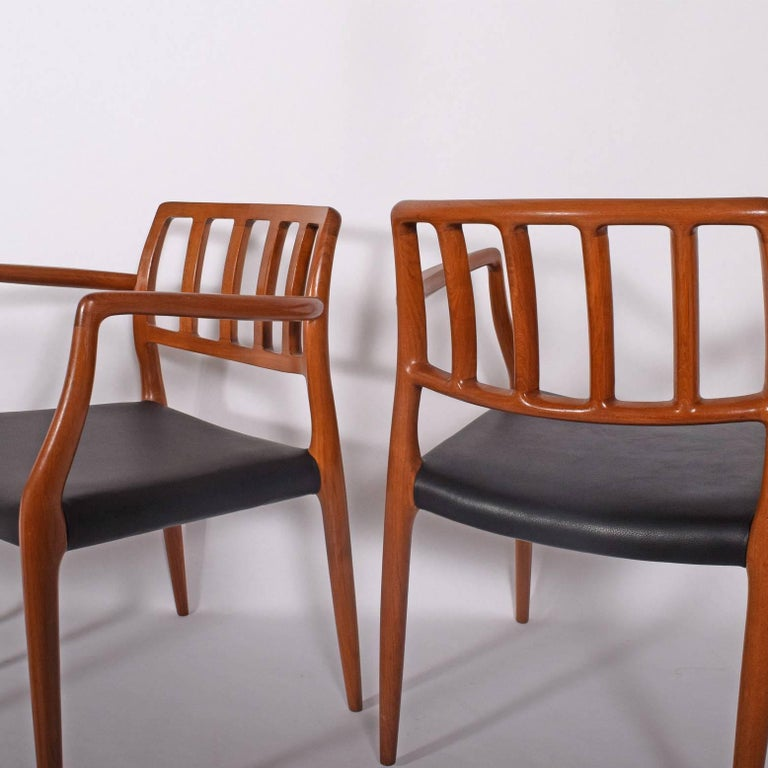 Set of Six Teak Armchairs Design by Niels O. Moller In Good Condition For Sale In Dallas, TX