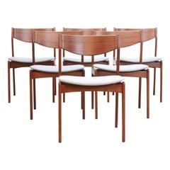Set of Six Teak Danish Design Dining Chairs by Erik Buch, 1960s