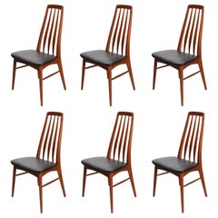 "Six Teak ""Eva"" Dining Chairs by Niels Koefoed"