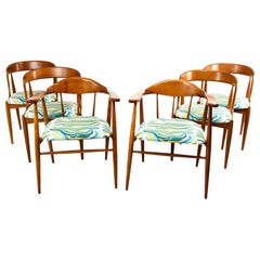 Set of Six Teak Midcentury Dining Chairs