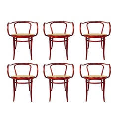 Set of Six Thonet Bentwood Armchairs
