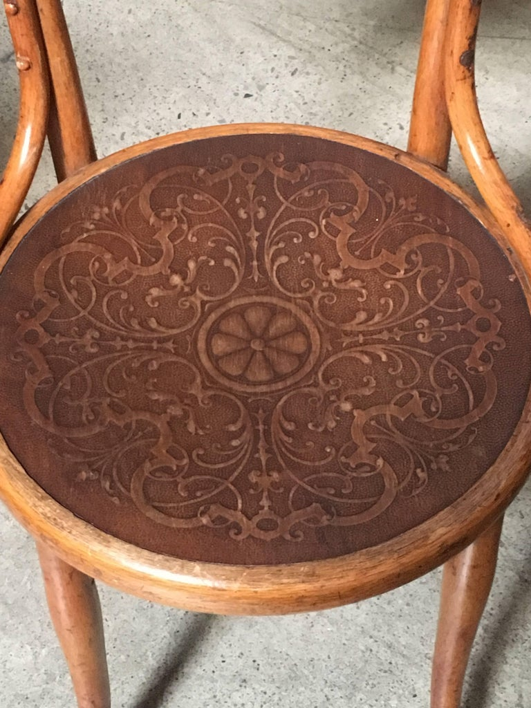 Wood Set of Six Thonet Bentwood Dining Chairs For Sale