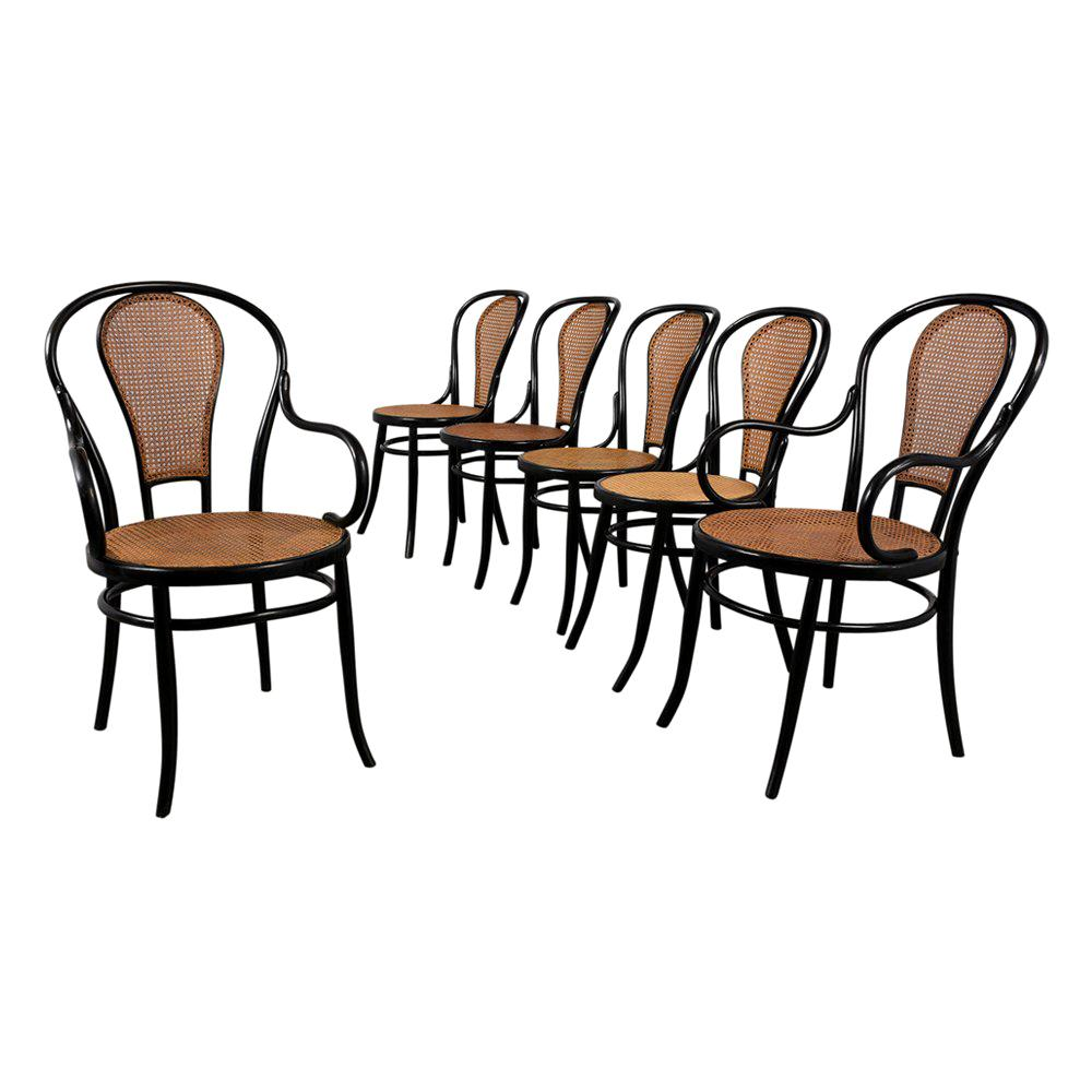 Set of Thonet Bentwood Dining Chairs
