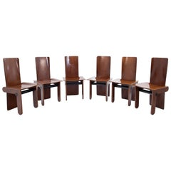 Set of Six Tobia Scarpa Chairs for Gavina, Italy, 1970s