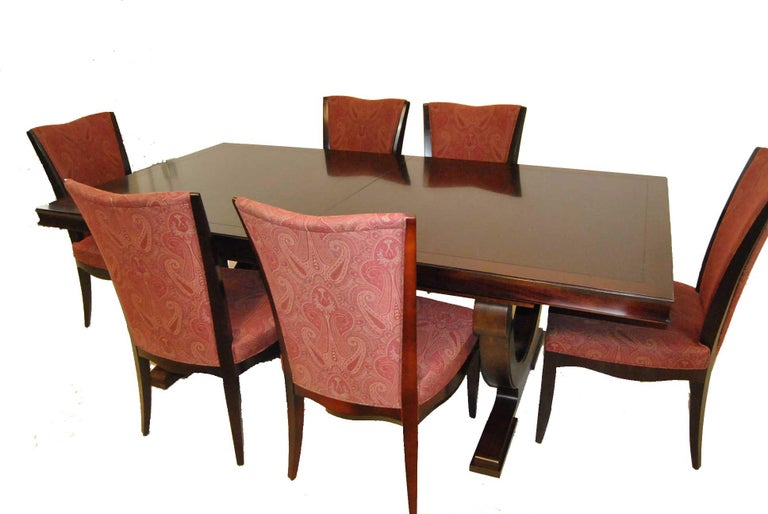 Modern Set of Six Upholstered Dining Room Chairs by Barbara Barry for Baker Furniture For Sale