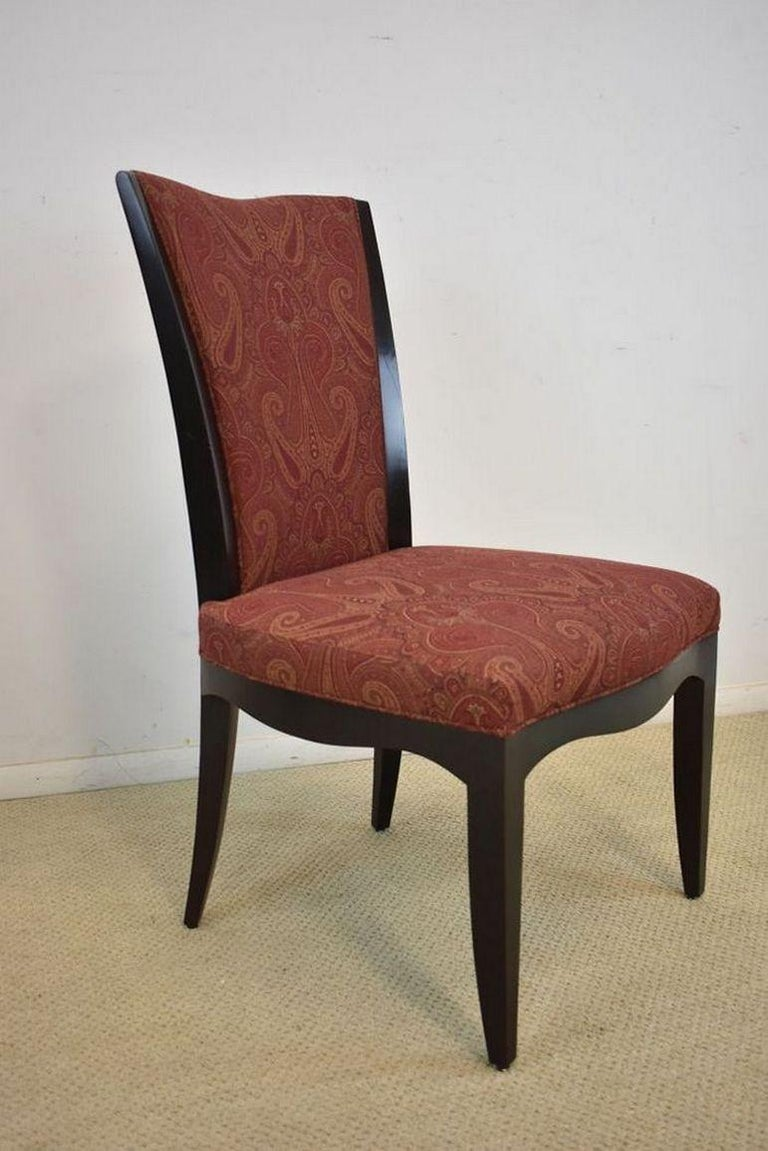American Set of Six Upholstered Dining Room Chairs by Barbara Barry for Baker Furniture For Sale