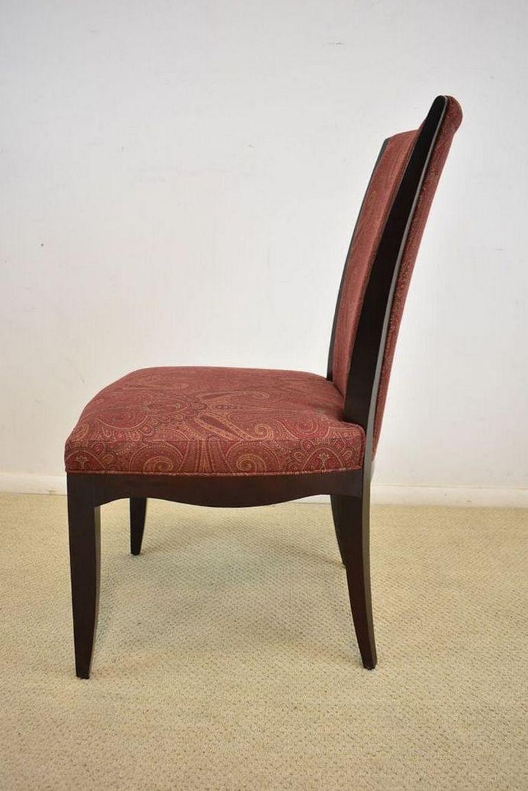 Set of Six Upholstered Dining Room Chairs by Barbara Barry for Baker Furniture For Sale 1