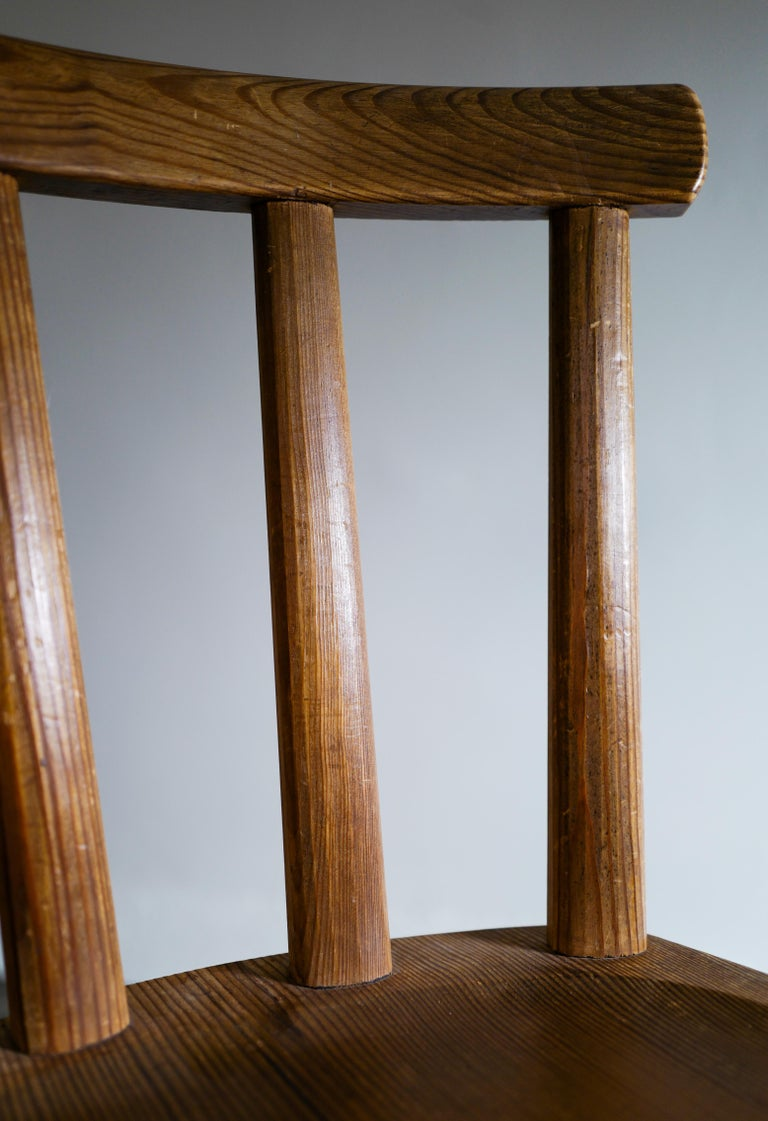 Set of Six Utö Chairs by Axel Einar Hjorth in Pine for Nordiska Kompaniet, 1930s For Sale 4