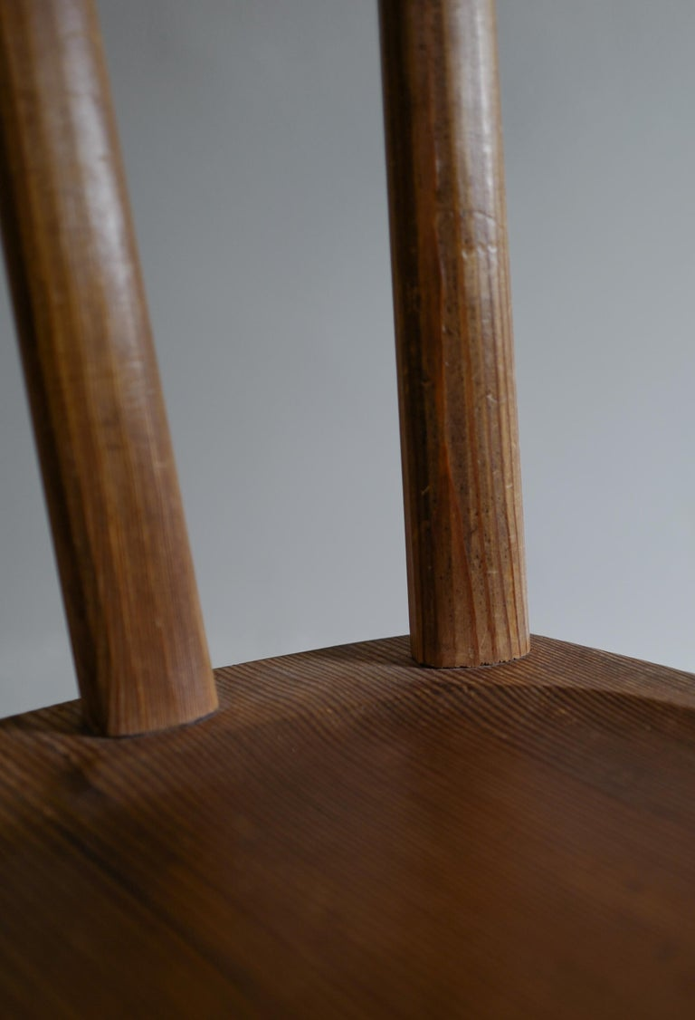 Set of Six Utö Chairs by Axel Einar Hjorth in Pine for Nordiska Kompaniet, 1930s For Sale 5