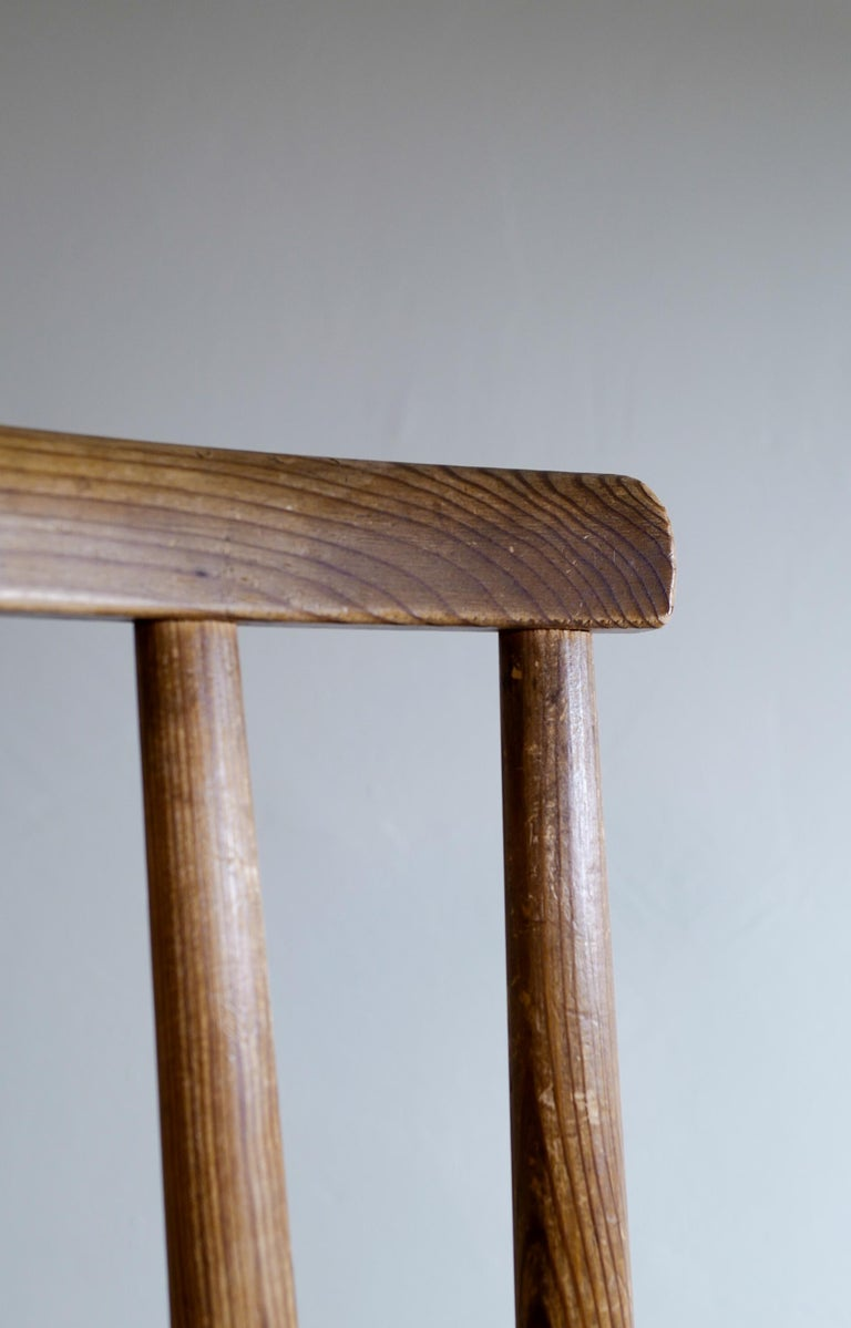 Set of Six Utö Chairs by Axel Einar Hjorth in Pine for Nordiska Kompaniet, 1930s For Sale 6