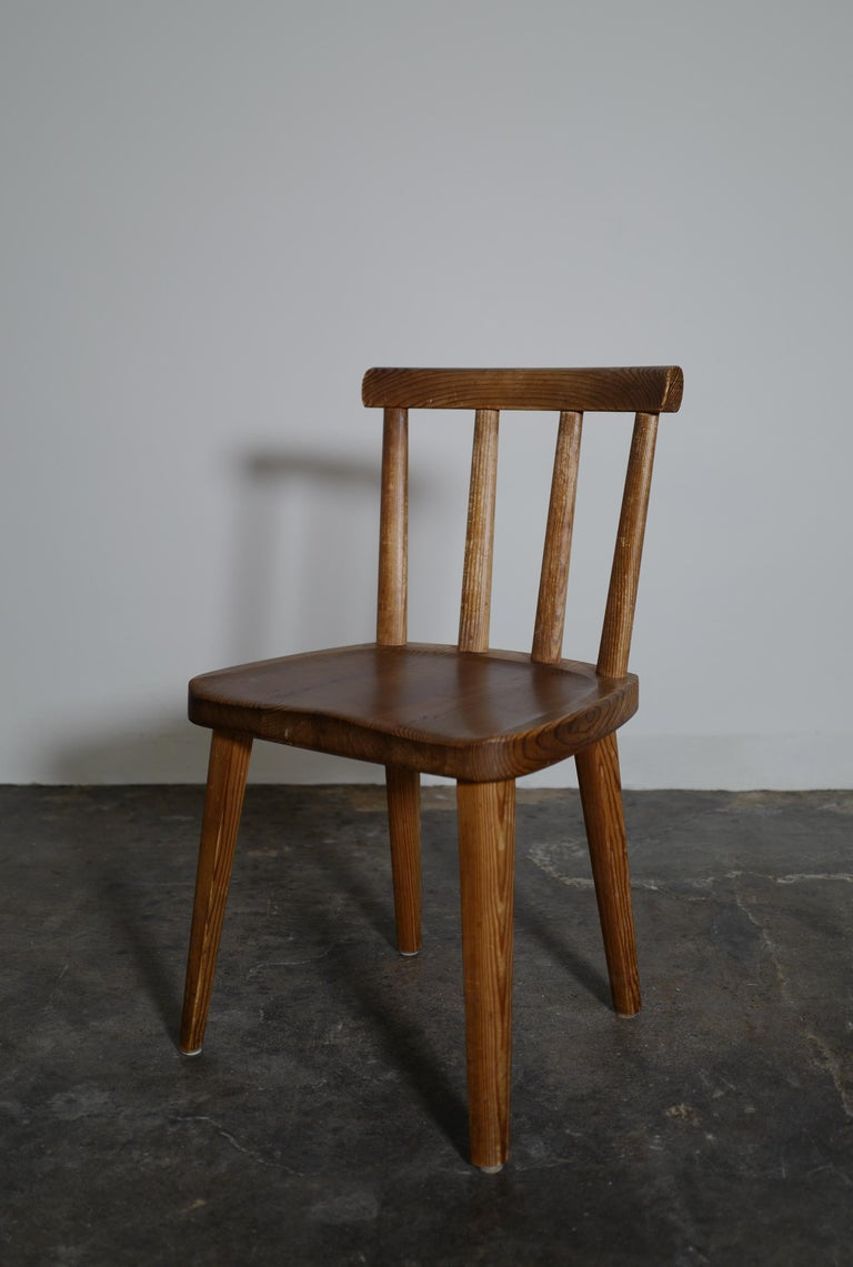 Mid-20th Century Set of Six Utö Chairs by Axel Einar Hjorth in Pine for Nordiska Kompaniet, 1930s For Sale