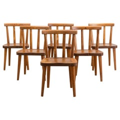 Set of Six Utö Chairs by Axel Einar Hjorth in Pine for Nordiska Kompaniet, 1930s