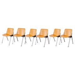 Set of Six Velca Stacking Chairs, 1970s, Italy