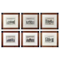 Set of Six Views of Milan Italian Etchings Salmon Thomas Albrizzi Venice, 1751