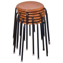 Set of Six Vintage Arne Jacobsen Dot Stools
