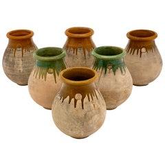 Set of Six Vintage French Jardinière Pots