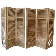 Set of Six Vintage French Shutters