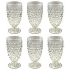 Set of Six Vintage Hobnail Juice Glasses