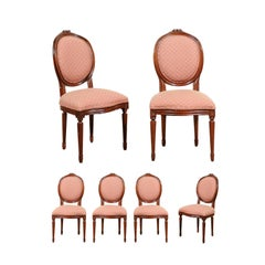 Set of Six Vintage Louis XVI Dining Chairs