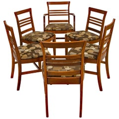 Set of Six Vintage Mahogany Dining Chairs