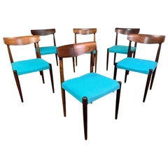 Set of Six Vintage Midcentury Danish Rosewood Dining Chairs by Knud Faerch