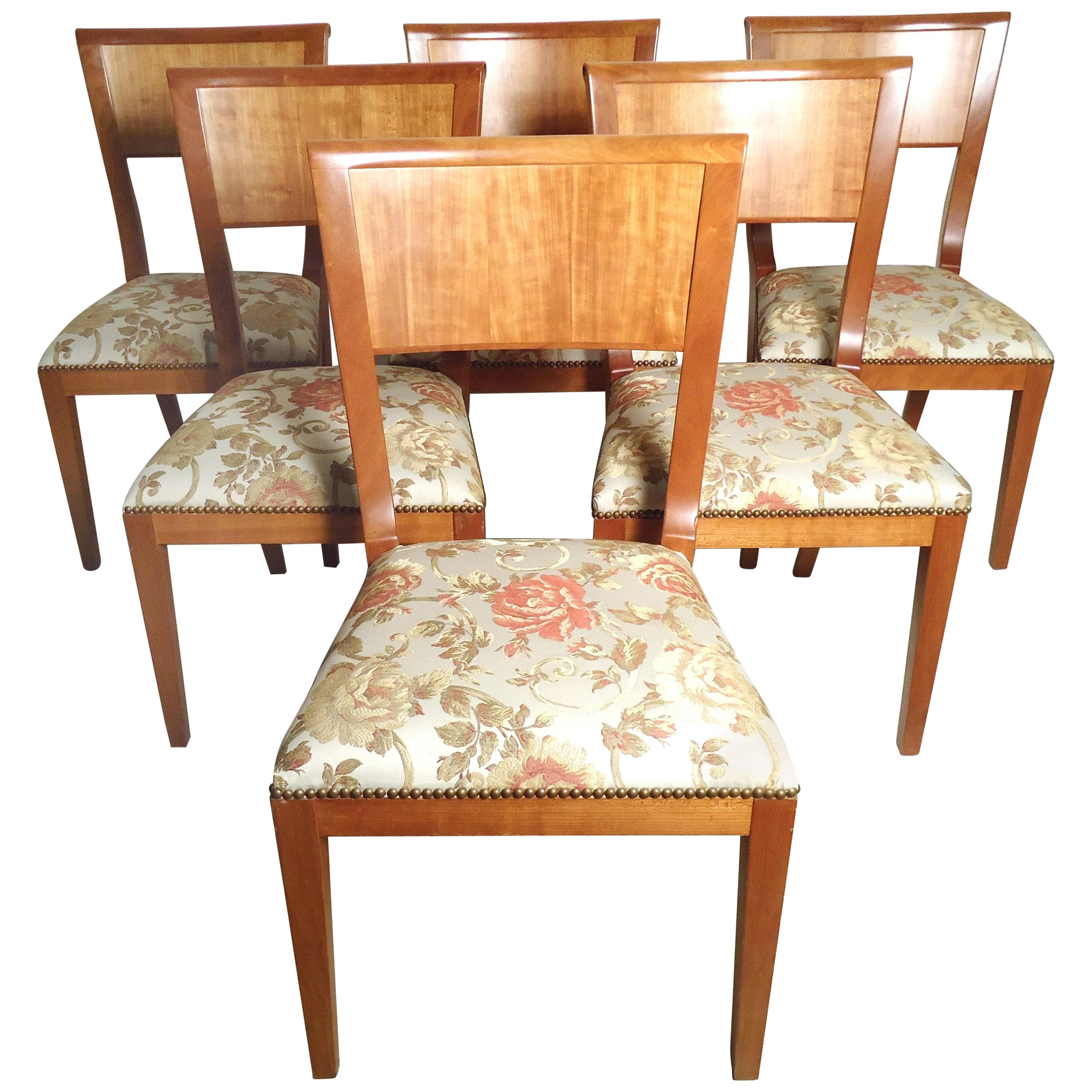 Set of Six Vintage Modern Dining Chairs