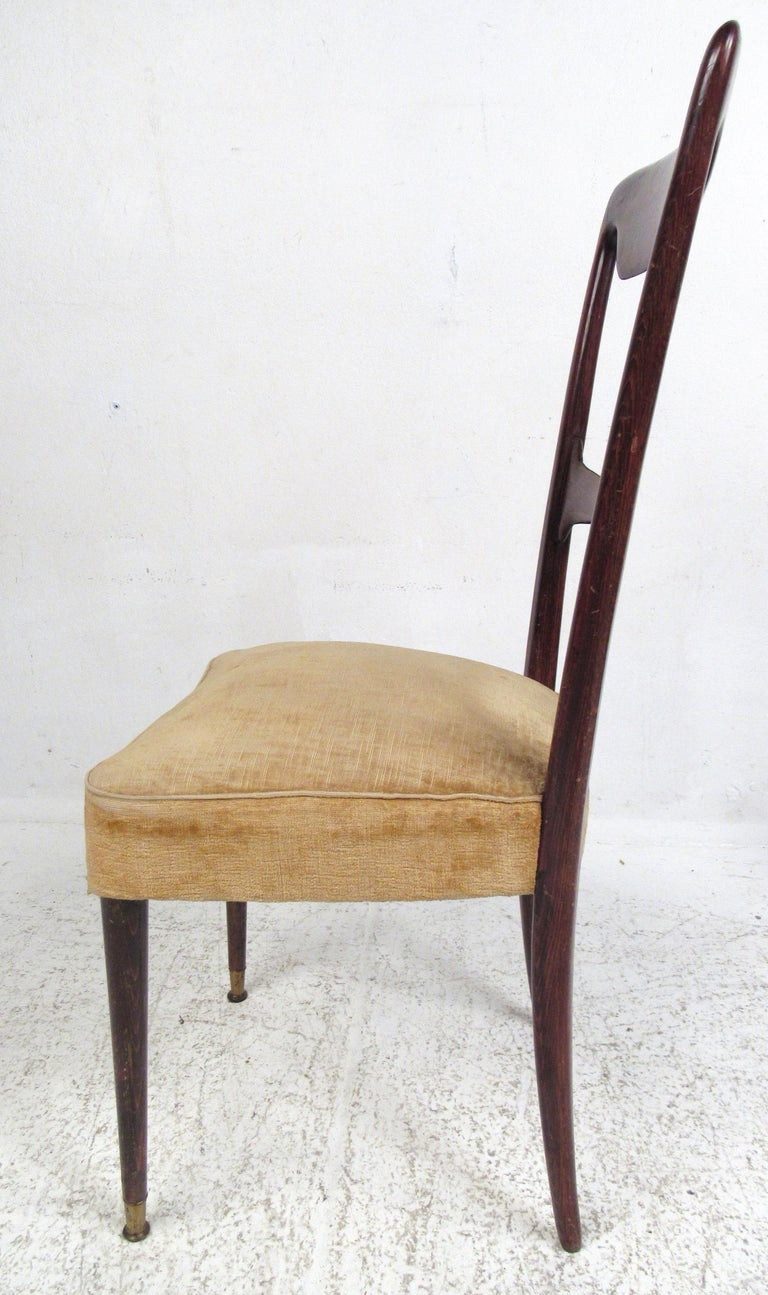 Mid-Century Modern Set of Six Vintage Modern Italian Dining Chairs For Sale