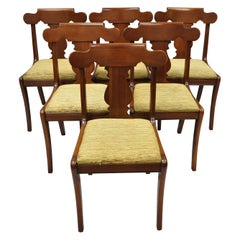 Set of Six Vintage Statton Solid Cherrywood American Colonial Dining Chairs