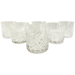 Set of Six Vintage Waterford Crystal Old Fashioned Glasses, Germany, circa 1995