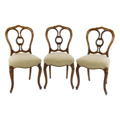 Set of Six Walnut Balon Back Chairs by Gillows