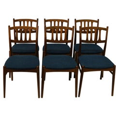 Set of Six Walnut Dining Chairs  1950`s by Bendt Winge for Gustav Bahus - Norway