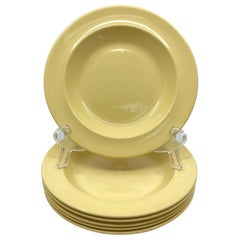 Set of Six Wedgwood Yellow Plates
