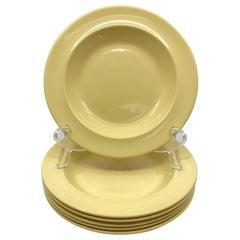Set of Six Wedgwood Yellow Plates
