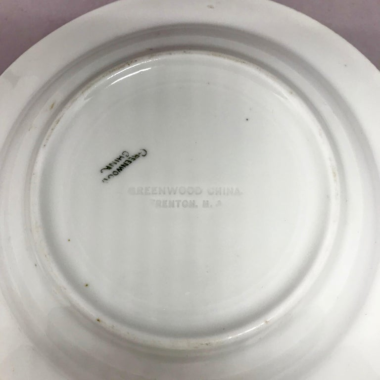 "Set of Six White Vintage ""Rajah"" Plates For Sale 4"