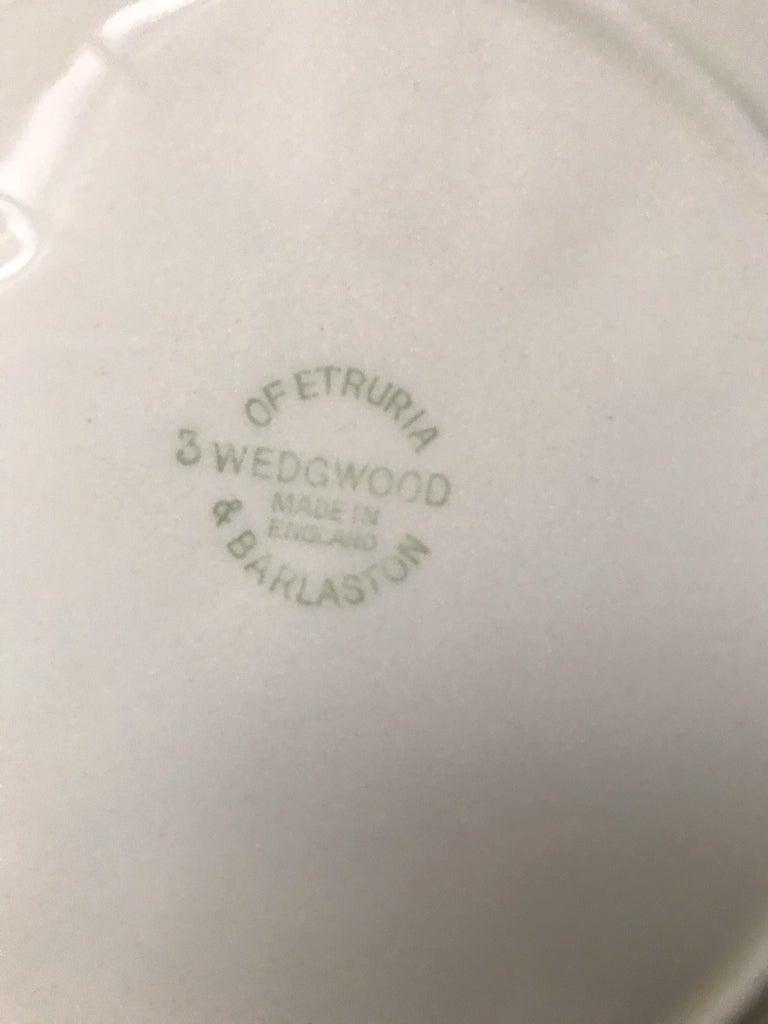 Set of Six White Wedgwood Grape Leaf Plates For Sale 3