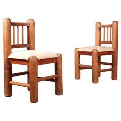 Set of Six Wood Chairs