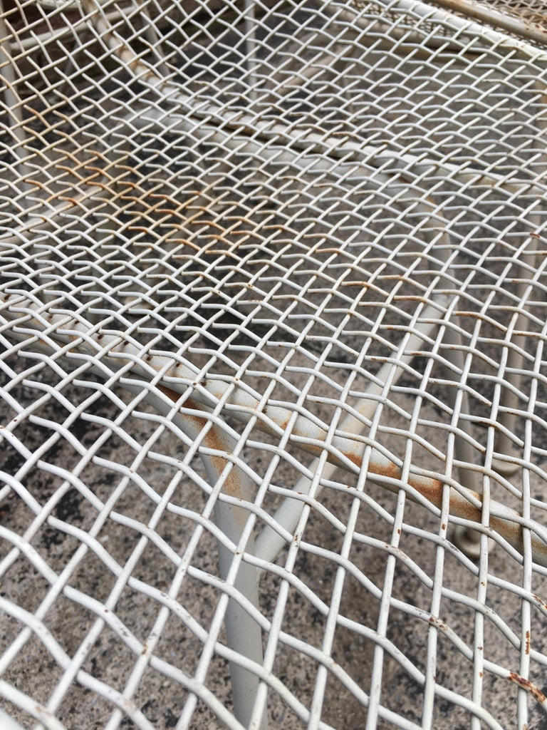 Set of Six Woodard Sculptura Wire Mesh Side Chair For Sale 4