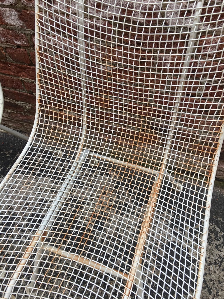 Set of Six Woodard Sculptura Wire Mesh Side Chair For Sale 5