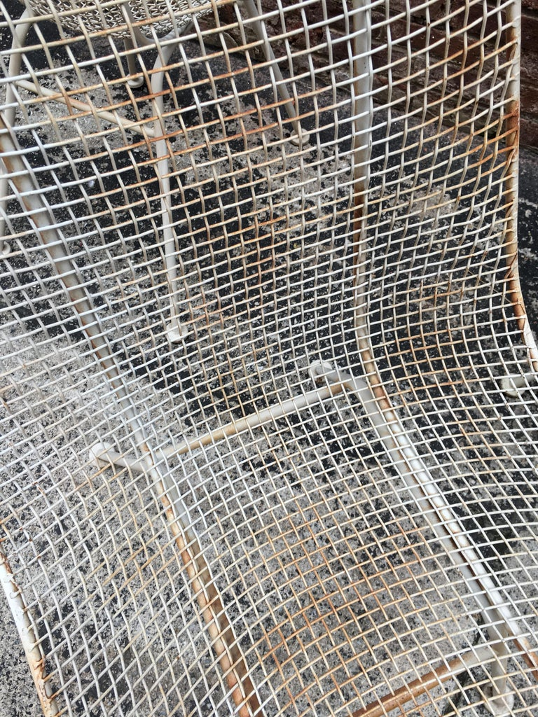 Set of Six Woodard Sculptura Wire Mesh Side Chair For Sale 3