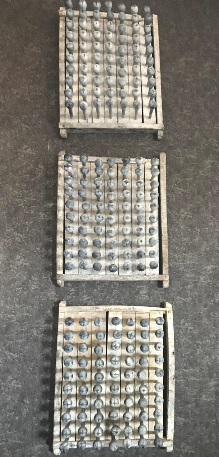 Set of Six Wooden Balloon Molds In Good Condition For Sale In San Francisco, CA