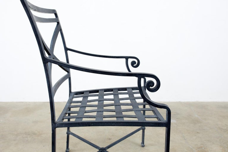 Set of Sixteen Brown Jordan Venetian Patio Dining Armchairs For Sale 2