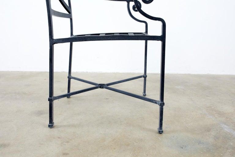 Set of Sixteen Brown Jordan Venetian Patio Dining Armchairs For Sale 3