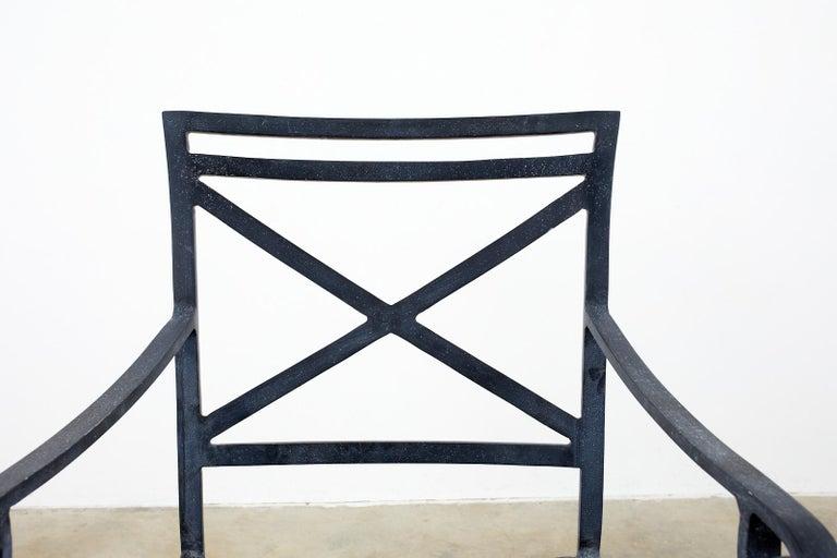 Set of Sixteen Brown Jordan Venetian Patio Dining Armchairs For Sale 4